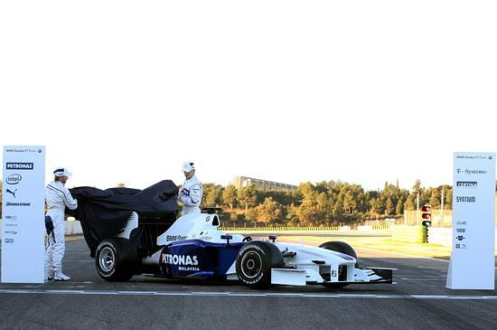 图文-宝马-索伯发布F1.09新款战车跃然而出