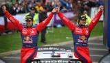 图文-WRC爱尔兰站第三日勒布与领航员登奖台