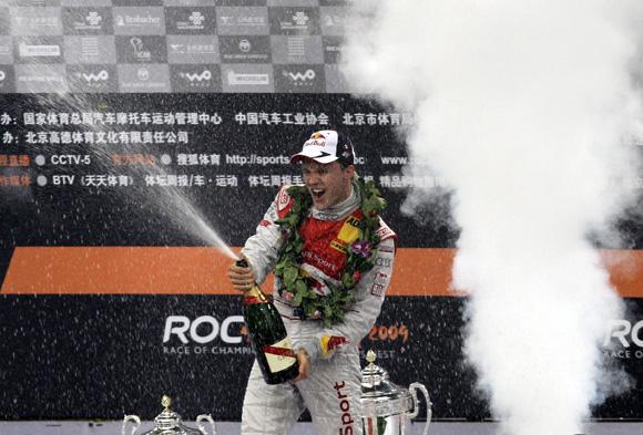 图文-2009roc车手杯 艾克斯特罗姆彭香槟庆祝