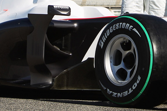 图文-索伯F1车队发布新车C29C29侧箱位置特写