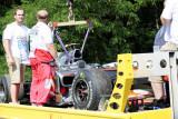 汉密尔顿的赛车被装运