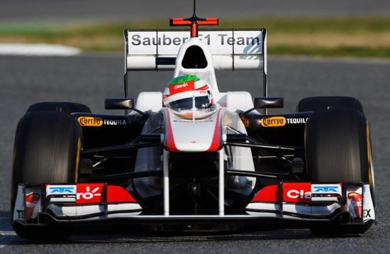 图文-F1巴塞罗那试车三日 佩雷斯测试索伯C30