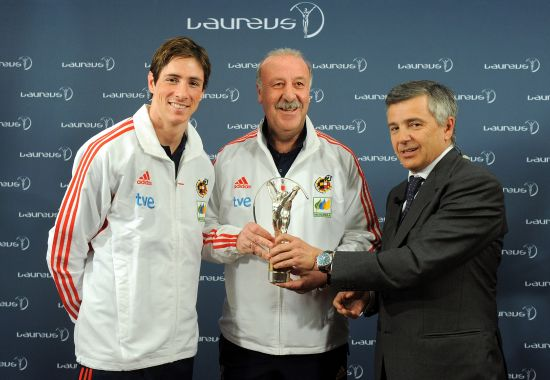 西班牙队获劳伦斯最佳团队奖。