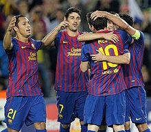 欧冠-梅西1助攻2中柱小白比利亚破门巴萨2-0告捷