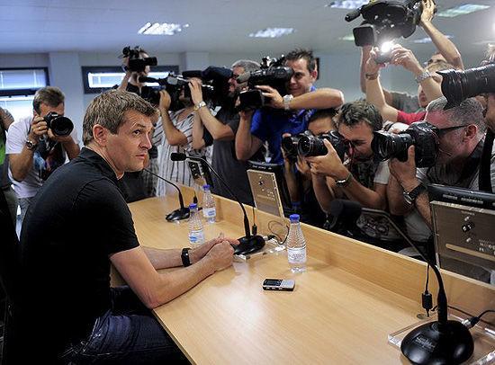比拉诺瓦出席了巴萨新赛季的首场新闻发布会