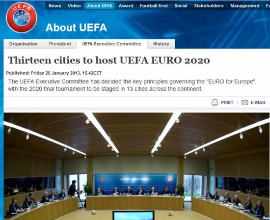 欧足联官网截图
