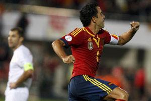 世预赛-哈维FIFA赛事首球曼城射手破门西班牙2-1