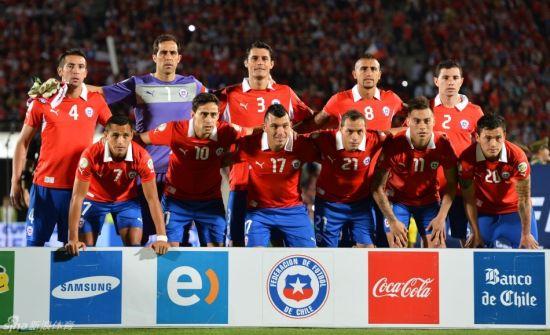 智利队合影