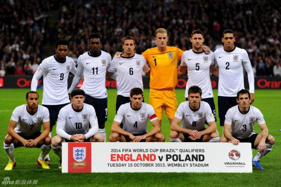 英格兰对波兰比赛时合影