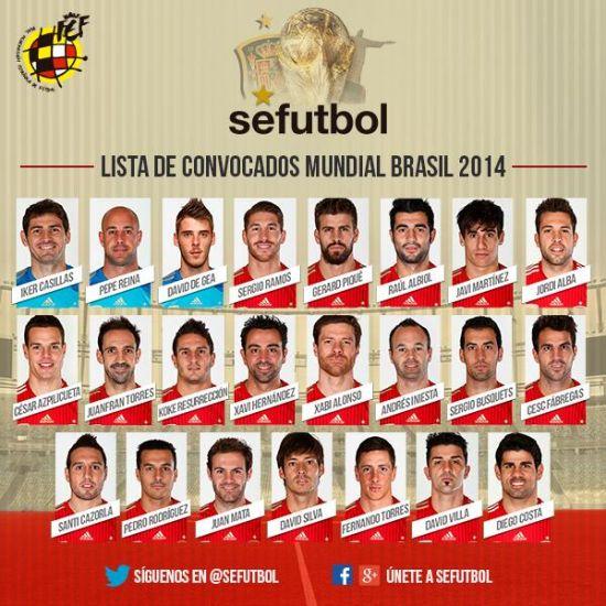 西班牙23人名单公布