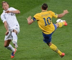 欧洲杯-伊布惊世天钩法国0-2负瑞典出线战西班牙