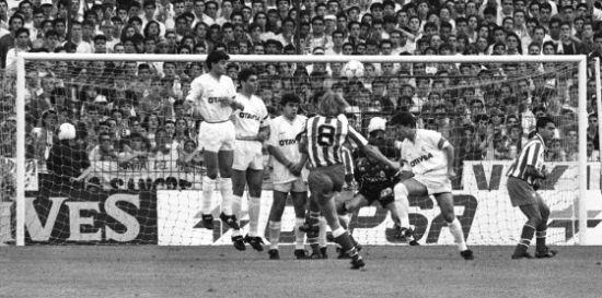 1992年,舒斯特尔的进球帮助马竞在伯纳乌战胜皇马