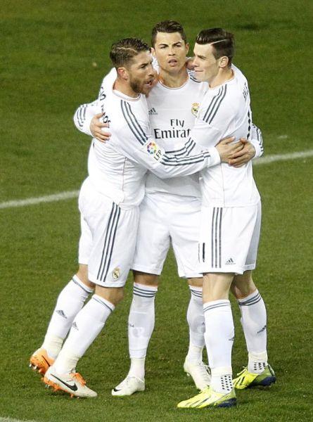 C罗、拉莫斯和贝尔入选欧冠赛季最佳阵容