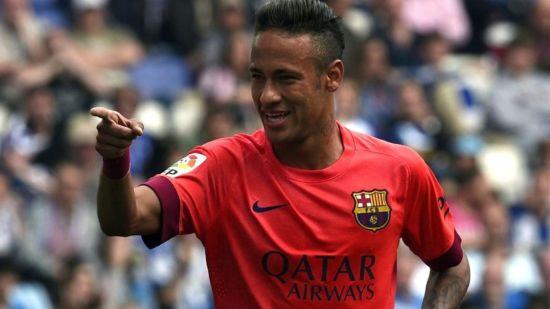 对西班牙人的比赛,内马尔再次进球