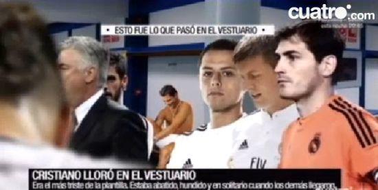 西班牙电视四台:C罗走回更衣室痛哭