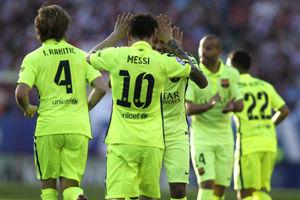 西甲-梅西助巴萨绝杀马竞提前1轮第23次夺冠