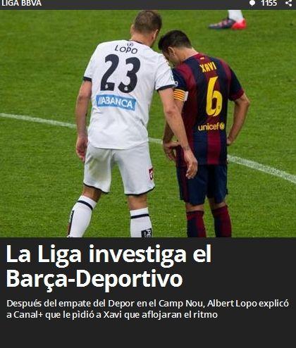 《世界体育报》关注巴萨与拉科比赛一事