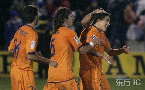 图文-[国王杯]艾科亚诺0-3巴塞罗那小博扬进球了
