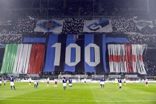 图文-[意甲]国际米兰VS雷吉纳国米庆祝成立100年