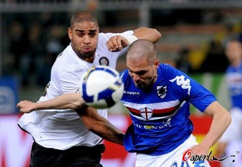 图文-[意大利杯]桑普多利亚VS国米阿德遭遇顽强拦截