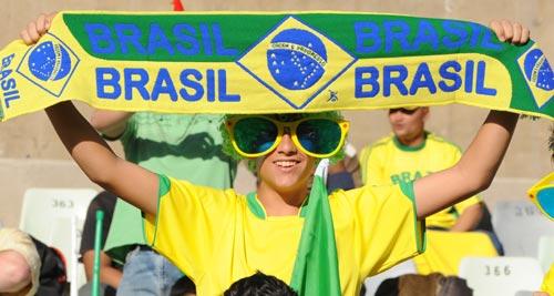 图文-[联合会杯]巴西vs埃及巴西球迷热情不减
