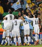 乌拉圭队球员庆祝