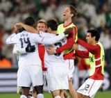 球员庆祝胜利