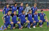 日本队首发赛前合影
