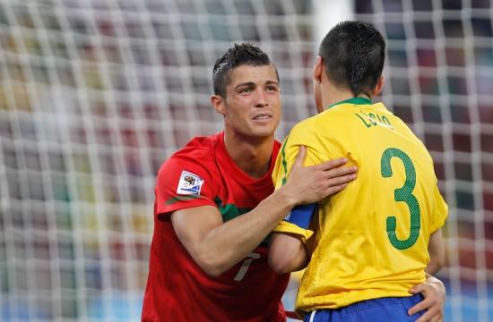 巴西队队长卢西奥的问候