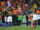 巴西球员神情失落