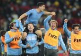 乌拉圭队庆祝胜利