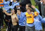乌拉圭队疯狂庆祝