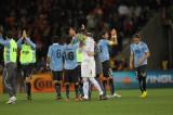 乌拉圭球员向观众致意