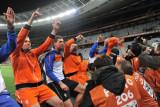 荷兰球员与球迷庆祝