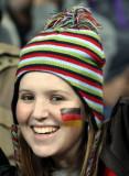 兴奋的德国女球迷
