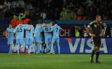 乌拉圭队庆祝进球