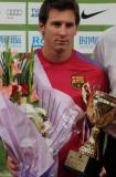 梅西作为代表领奖