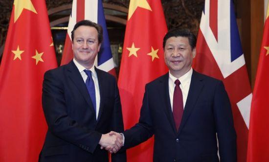 国家主席习近平在北京钓鱼台国宾馆会见英国首相卡梅伦