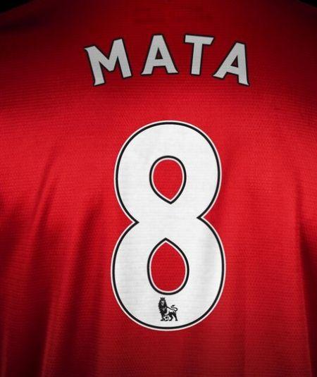 曼联官方宣布马塔身穿8号