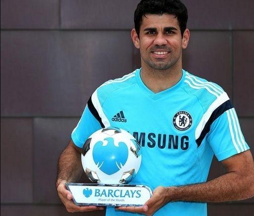 科斯塔荣获英超8月最佳球员