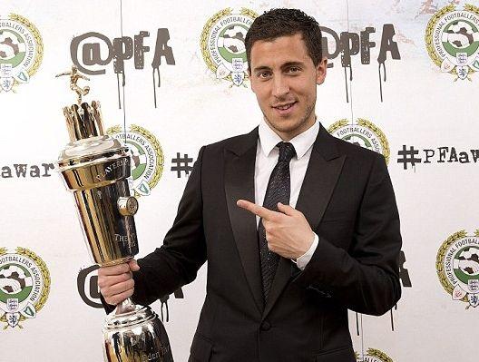 阿扎尔获得英超年度最佳