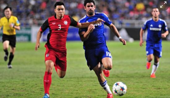 科斯塔与泰国全明星的友谊赛中