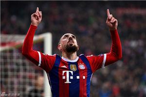 欧冠-里贝里格策破门拜仁2-0胜罗马锁定头名