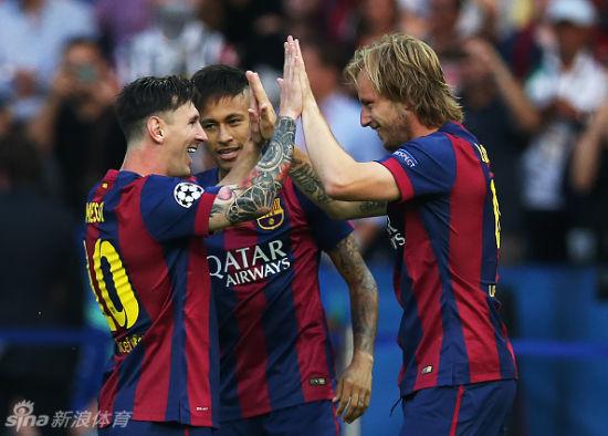 梅西、C罗、内马尔三人并列欧冠最佳射手