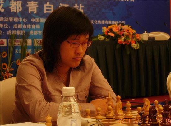 北京队女将赵雪在比赛中