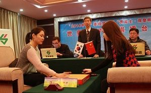 女子擂台赛首局李玟真打40目大勺宋容慧逆转险胜