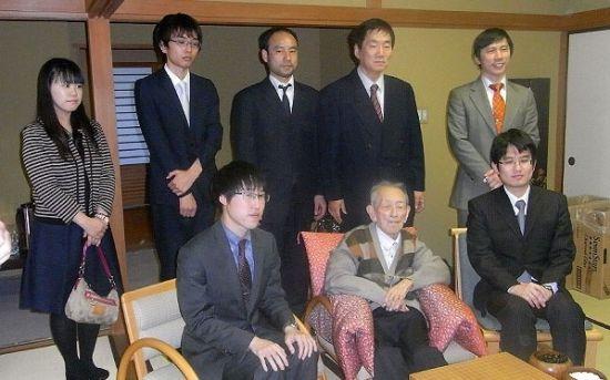 2014年2月26日,吴清源观战日本棋圣战。图片来源:读卖新闻