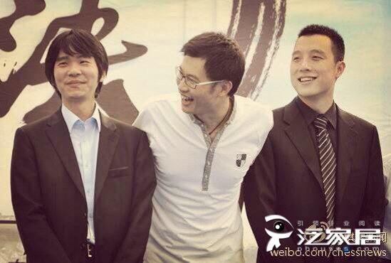 机缘交织的三人,左起:李世石、倪张根、古力