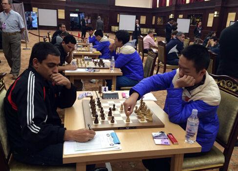 国象男团赛 中国逆转险胜古巴