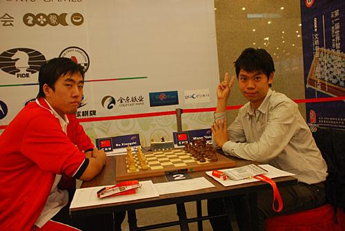 图文-智运会国象男女快棋赛中国德比末轮上演